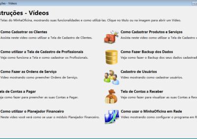 Tela Videos com Instruções