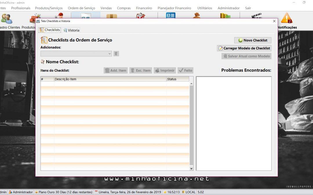 Qual é a importância do Check-List? Como utiliza-lo no Minha Oficina? |